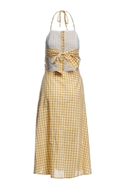 Renamed Clothing Yellow Check Dress - Front full body
