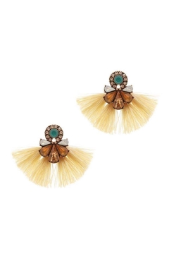 Baggis Accesorios Yellow Cristal Earrings - Alternate List Image