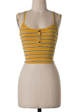 Shoptiques Product: Yellow Crop Top