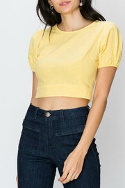 Favlux Yellow Cropped Blouse - Product Mini Image