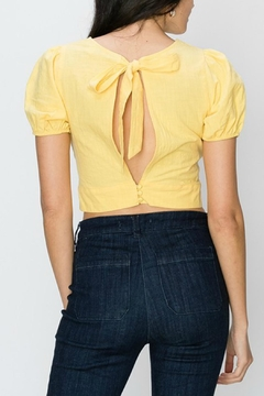 Favlux Yellow Cropped Blouse - Alternate List Image