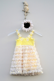 Baby Sara Yellow Daisy Dress - Back cropped