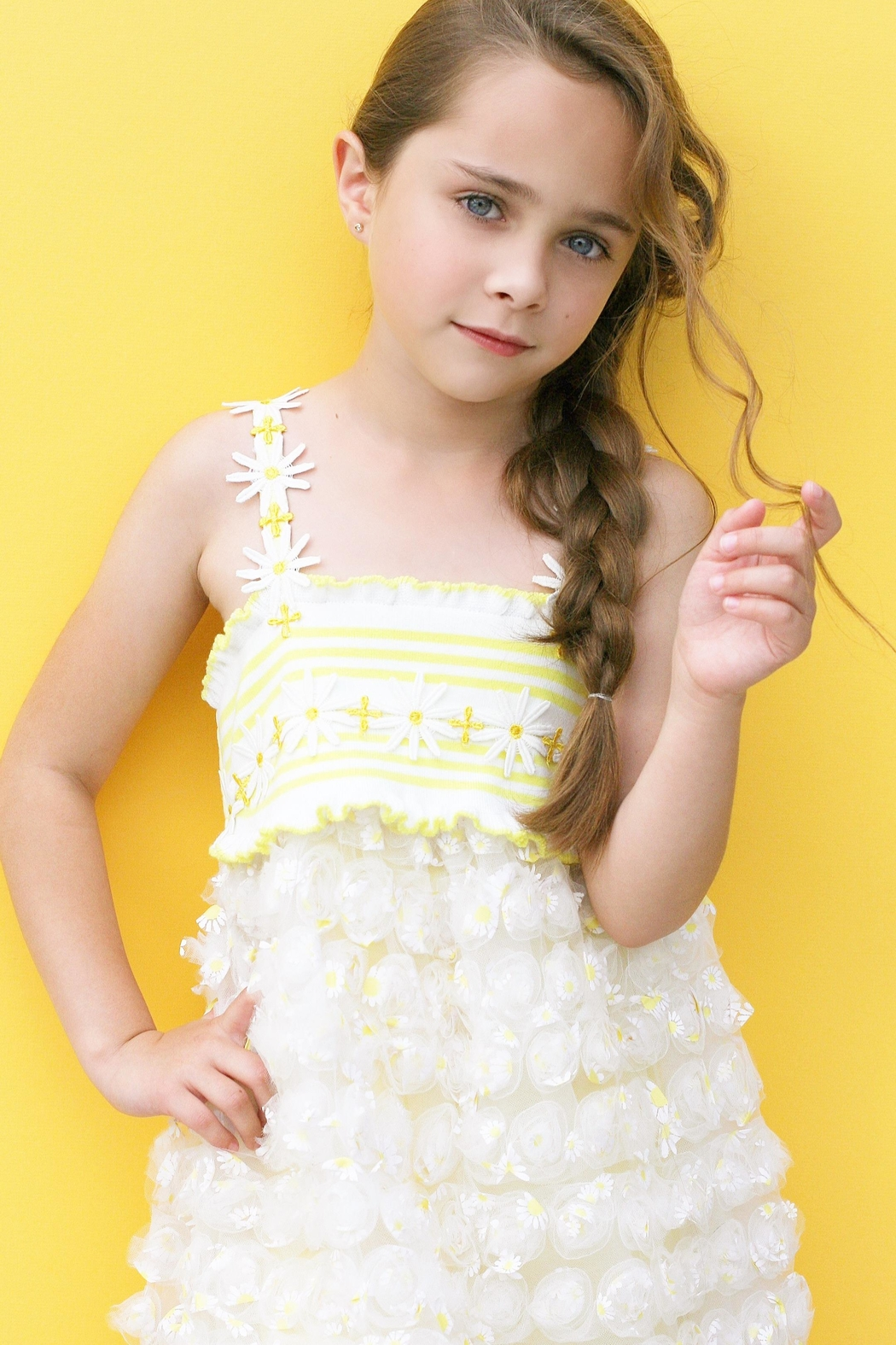 Baby Sara Yellow Daisy Dress - Main Image
