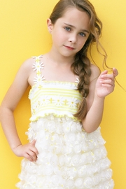 Baby Sara Yellow Daisy Dress - Front cropped