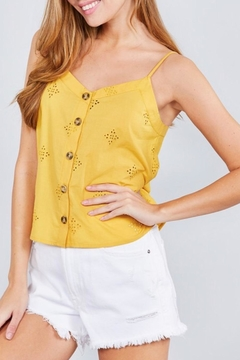 Active Basic Yellow Eyelet Cami - Alternate List Image