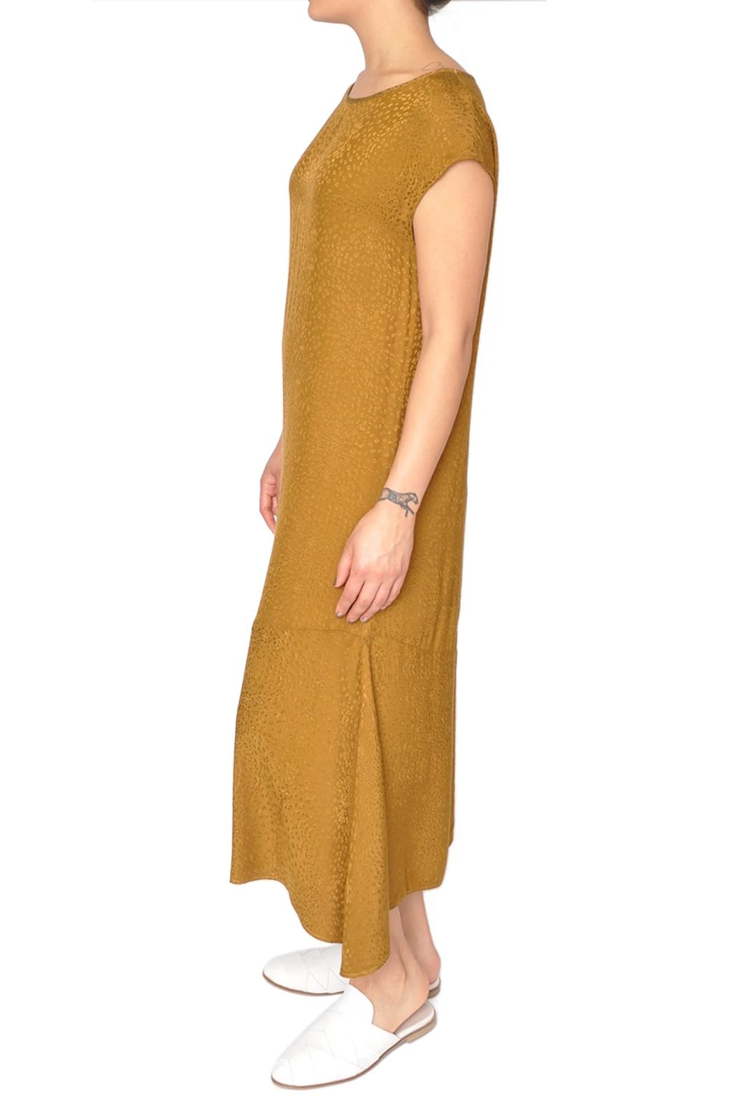 LACAUSA Yellow Flapper Dress - Front Full Image