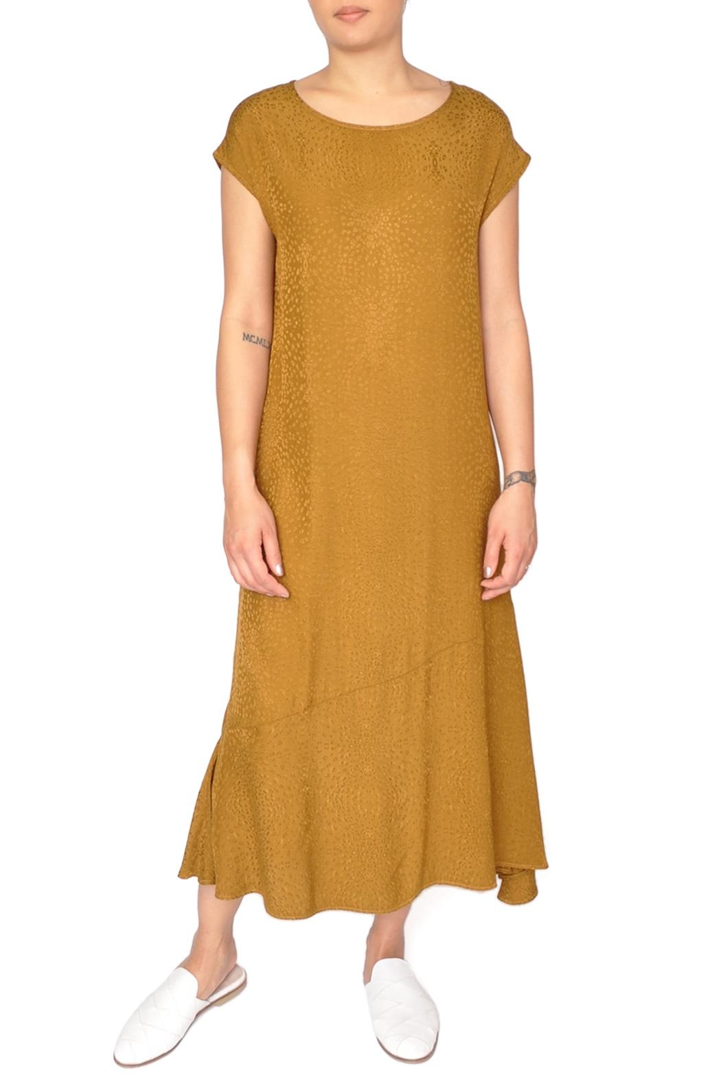 LACAUSA Yellow Flapper Dress - Front Cropped Image