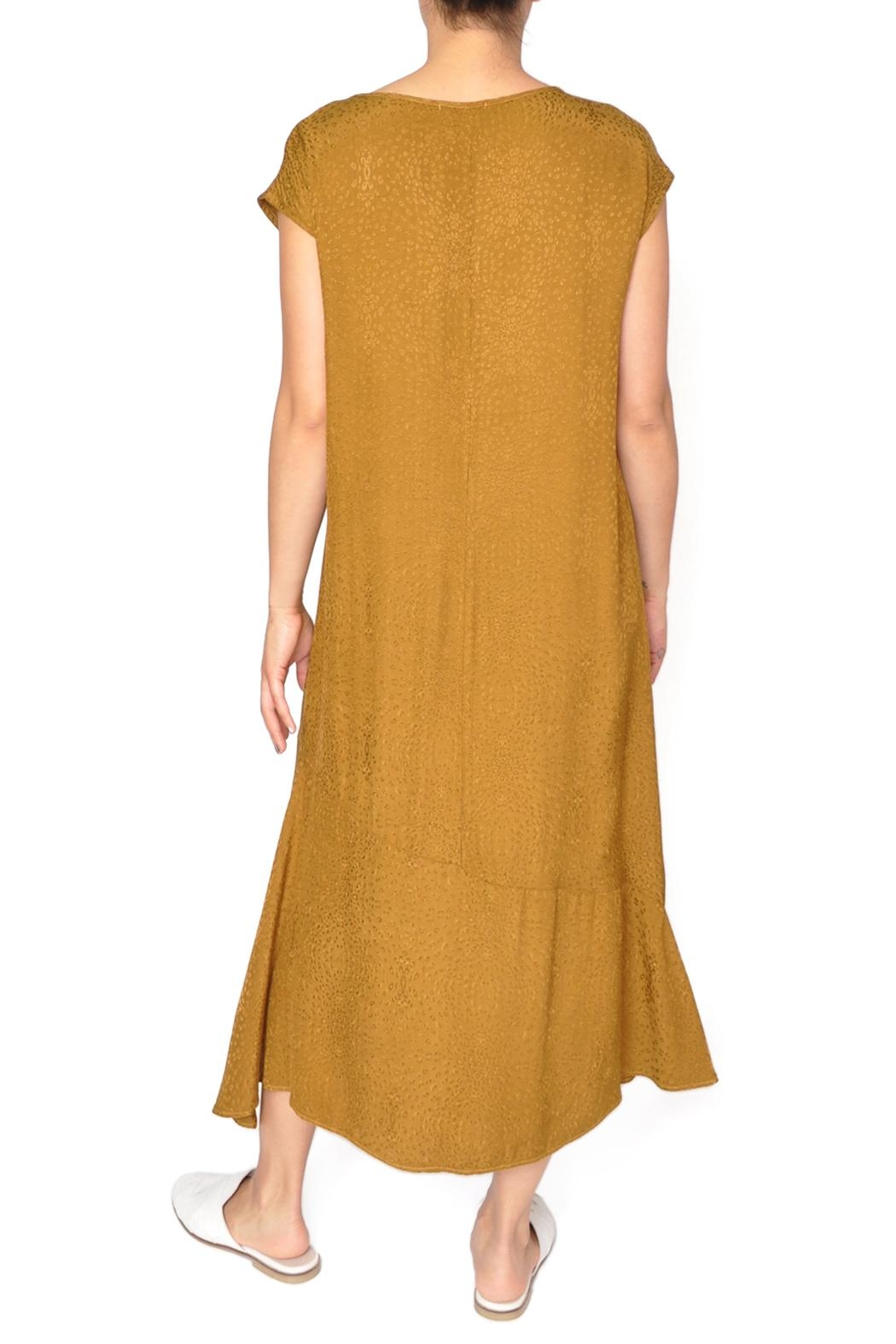 LACAUSA Yellow Flapper Dress - Side Cropped Image