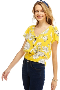 Miley and Molly Yellow Floral Blouse - Alternate List Image