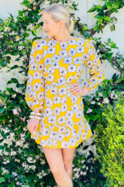 Mari Max Yellow Floral Dress - Product Mini Image