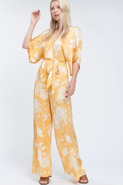 Emory Park Yellow Floral Jumpsuit - Product List Image