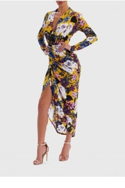 Forever Unique Yellow Floral Midi - Product Mini Image