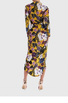 Forever Unique Yellow Floral Midi - Alternate List Image