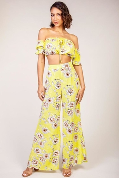 Latiste Yellow Floral Pant-Set - Product List Image