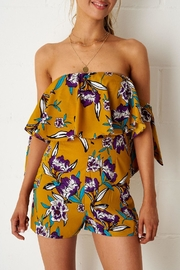 frontrow Yellow Floral Playsuit - Front cropped