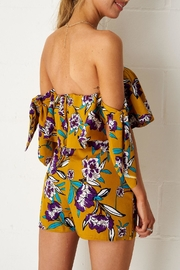 frontrow Yellow Floral Playsuit - Front full body