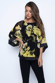Frank Lyman Yellow Floral Top - Product Mini Image