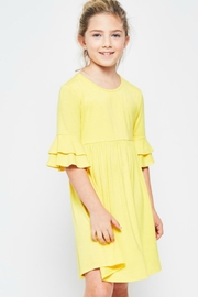 GTOG Yellow Flutter Dress - Front cropped