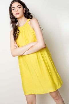 THML Clothing Yellow Halter Dress - Product List Image