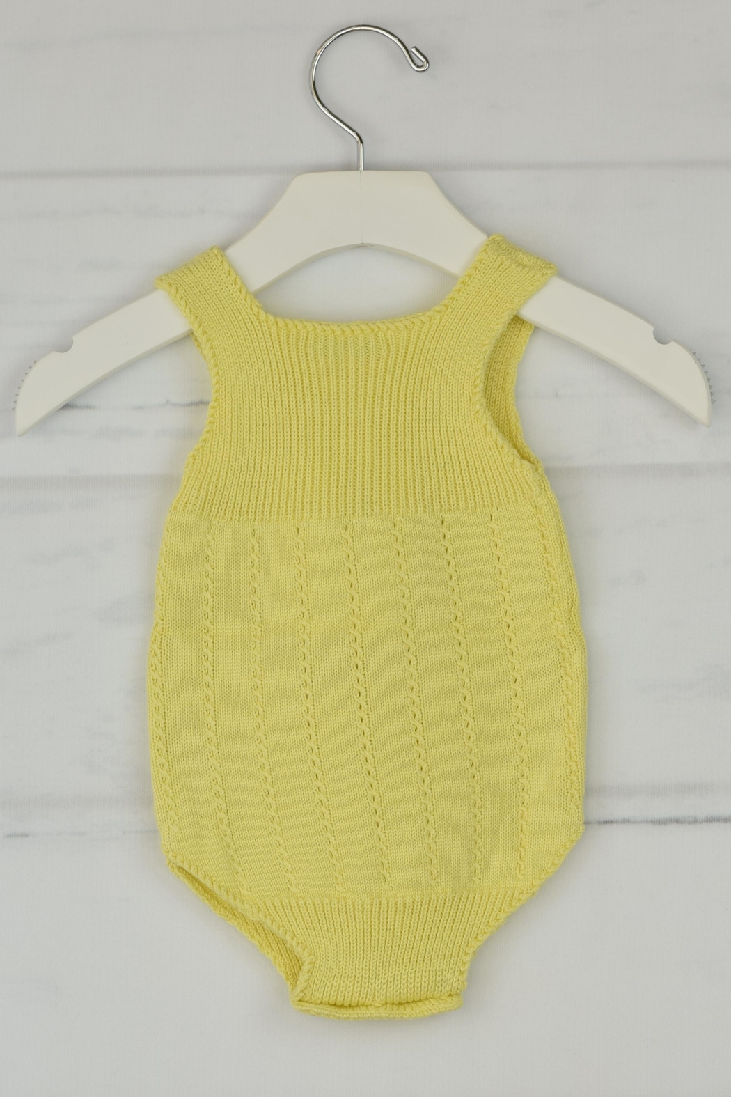 Granlei 1980 Yellow Knitted Onesie - Front Full Image