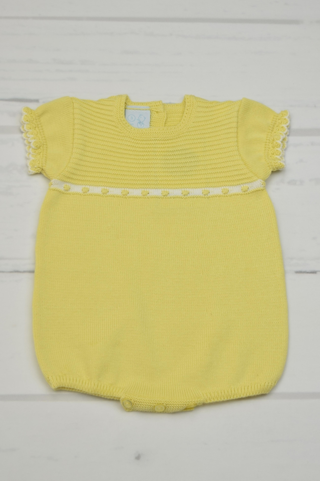 Granlei 1980 Yellow Knitted Onesie - Main Image