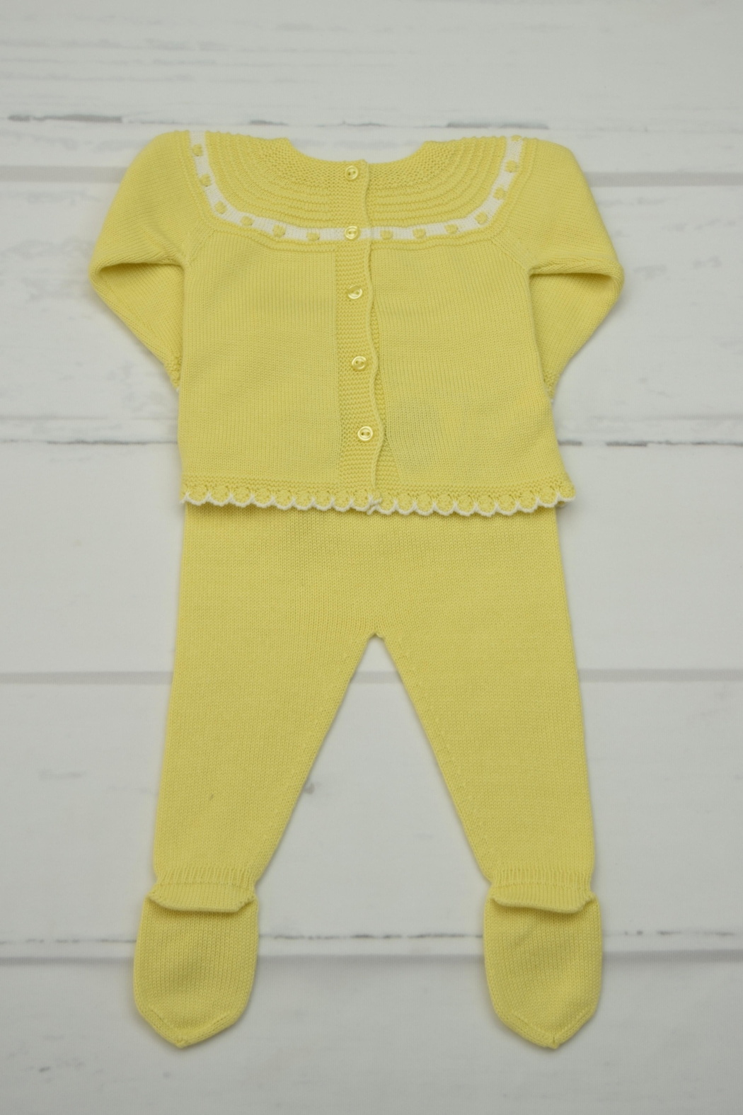 Granlei 1980 Yellow Knitted Outfit - Front Full Image