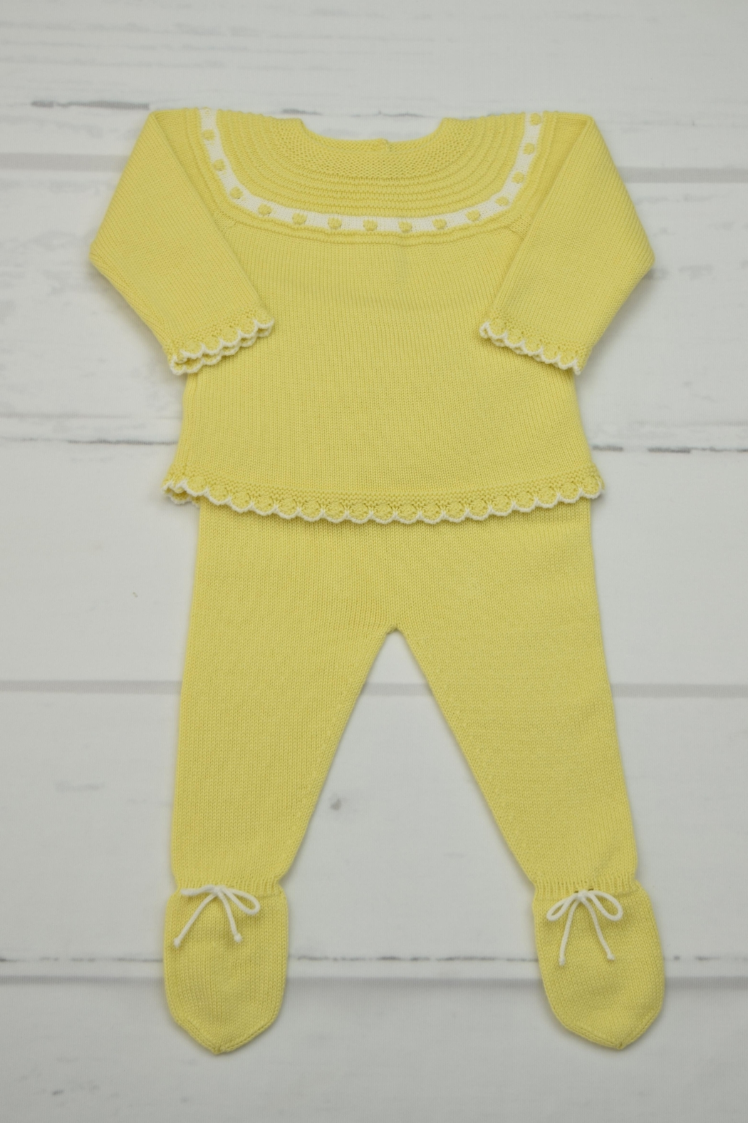 Granlei 1980 Yellow Knitted Outfit - Main Image