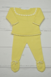Granlei 1980 Yellow Knitted Outfit - Front cropped