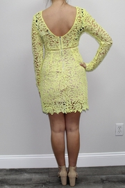 Dress Code Yellow Lace Dress - Front full body
