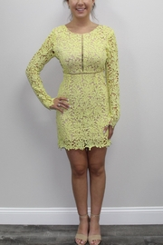 Dress Code Yellow Lace Dress - Front cropped
