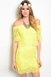 may & july Yellow Lace Dress - Product Mini Image