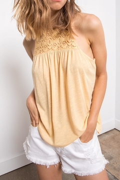 Others Follow  Yellow Lace Tank - Product List Image