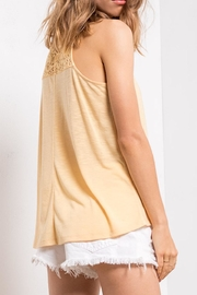 Others Follow  Yellow Lace Tank - Front full body