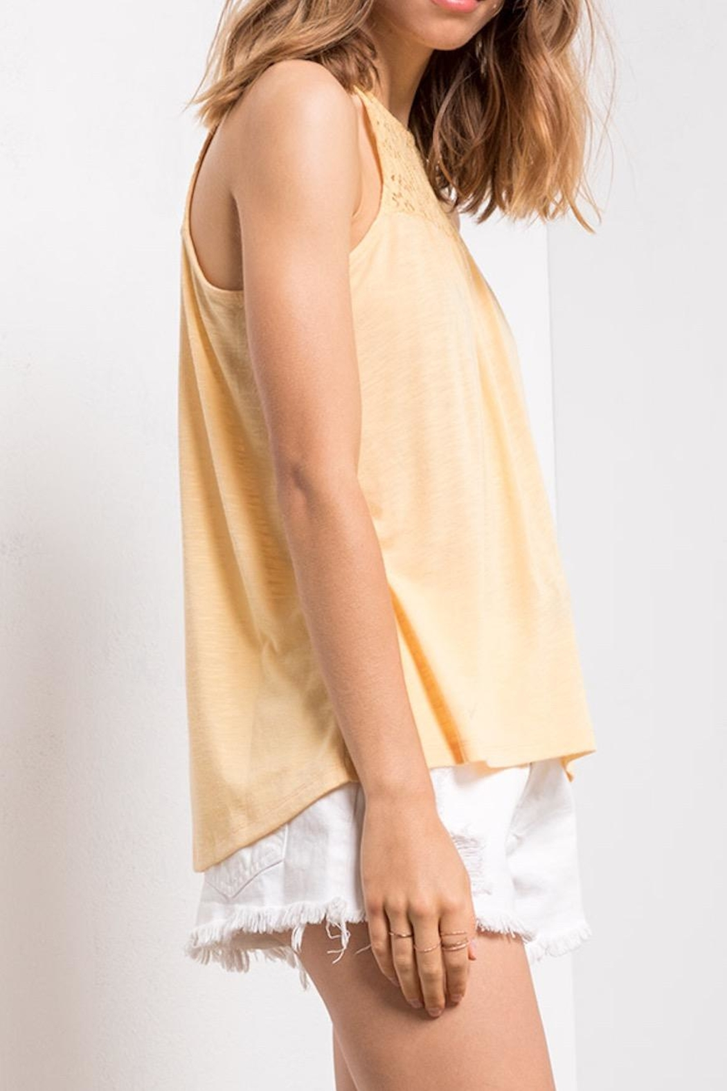 Others Follow  Yellow Lace Tank - Side Cropped Image