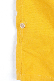 Bitz Kids  Yellow Linen Roll-up Pants - Back cropped