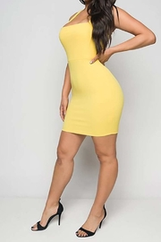 Unknown Factory Yellow Mini Dress - Product Mini Image