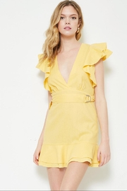 etophe studios Yellow Mini Dress - Product Mini Image