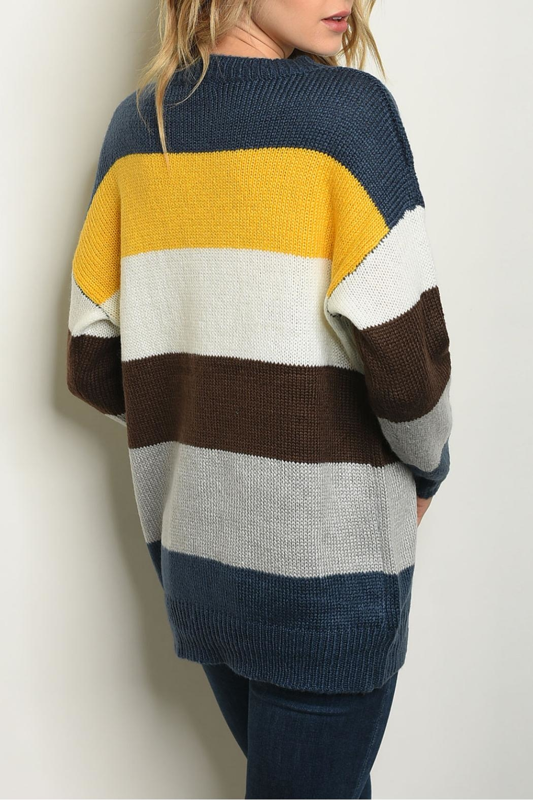 Shop The Trends  Yellow Multi Sweater - Front Full Image