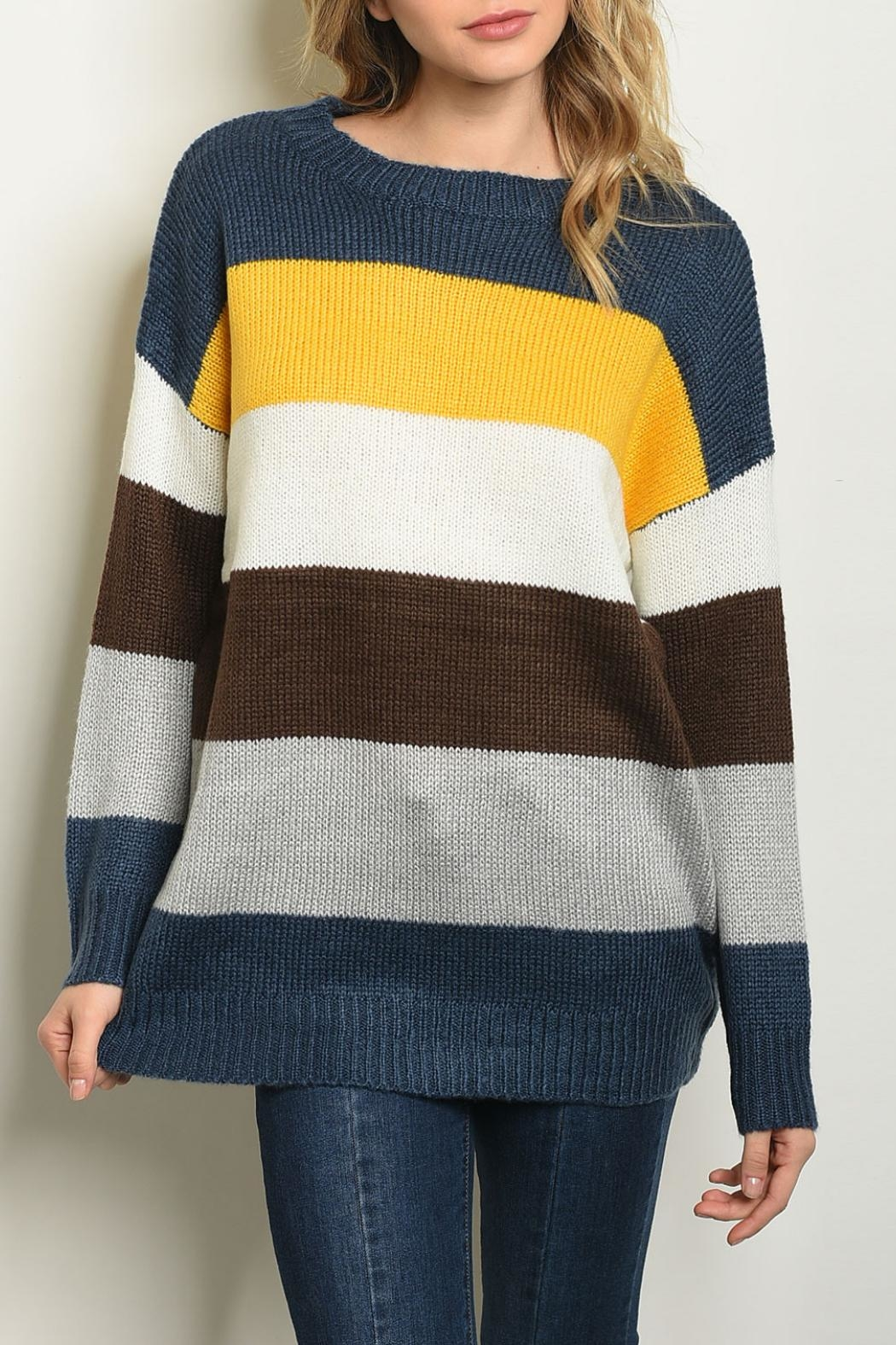 Shop The Trends  Yellow Multi Sweater - Main Image