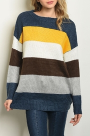 Shop The Trends  Yellow Multi Sweater - Product Mini Image