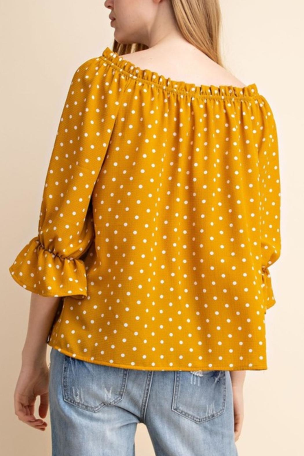 Mittoshop Yellow Off-Shoulder Top - Front Full Image