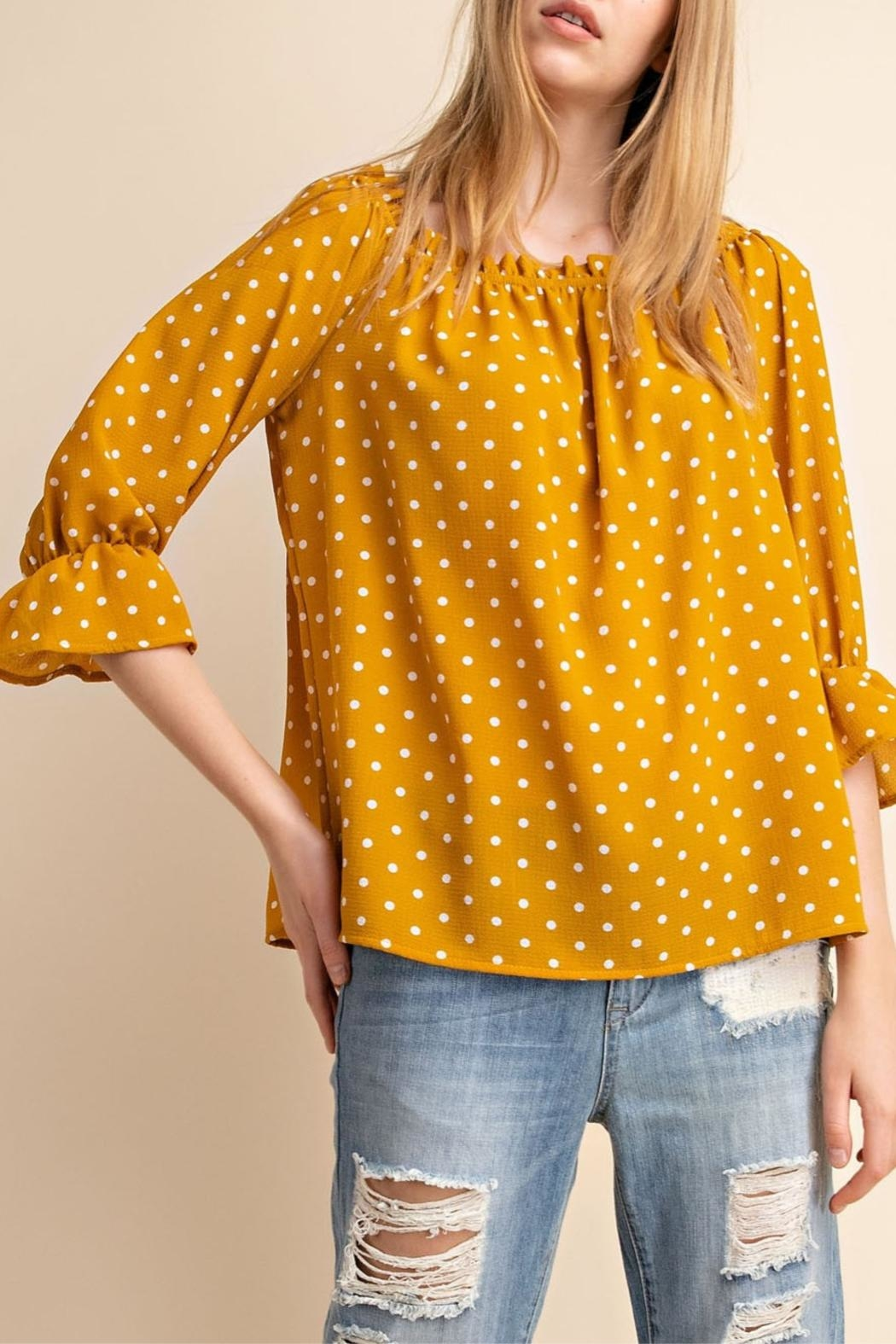 Mittoshop Yellow Off-Shoulder Top - Main Image