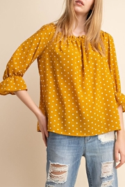 Mittoshop Yellow Off-Shoulder Top - Front cropped