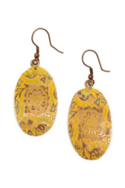 Anju Handcrafted Artisan Jewelry YELLOW OVAL ER - Product Mini Image