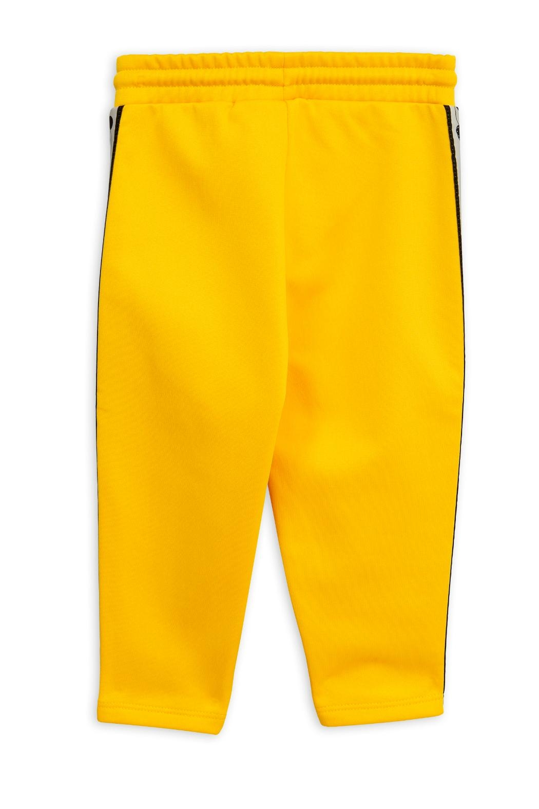 Mini Rodini Yellow Panda Pants - Side Cropped Image