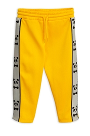 Mini Rodini Yellow Panda Pants - Front full body