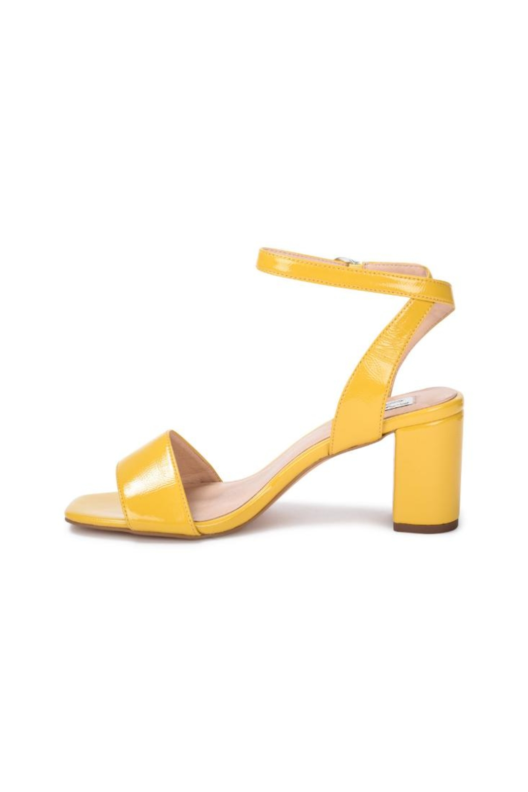 Vintage Havana Yellow Patent Sandal - Front Cropped Image