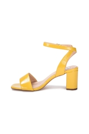 Vintage Havana Yellow Patent Sandal - Front cropped