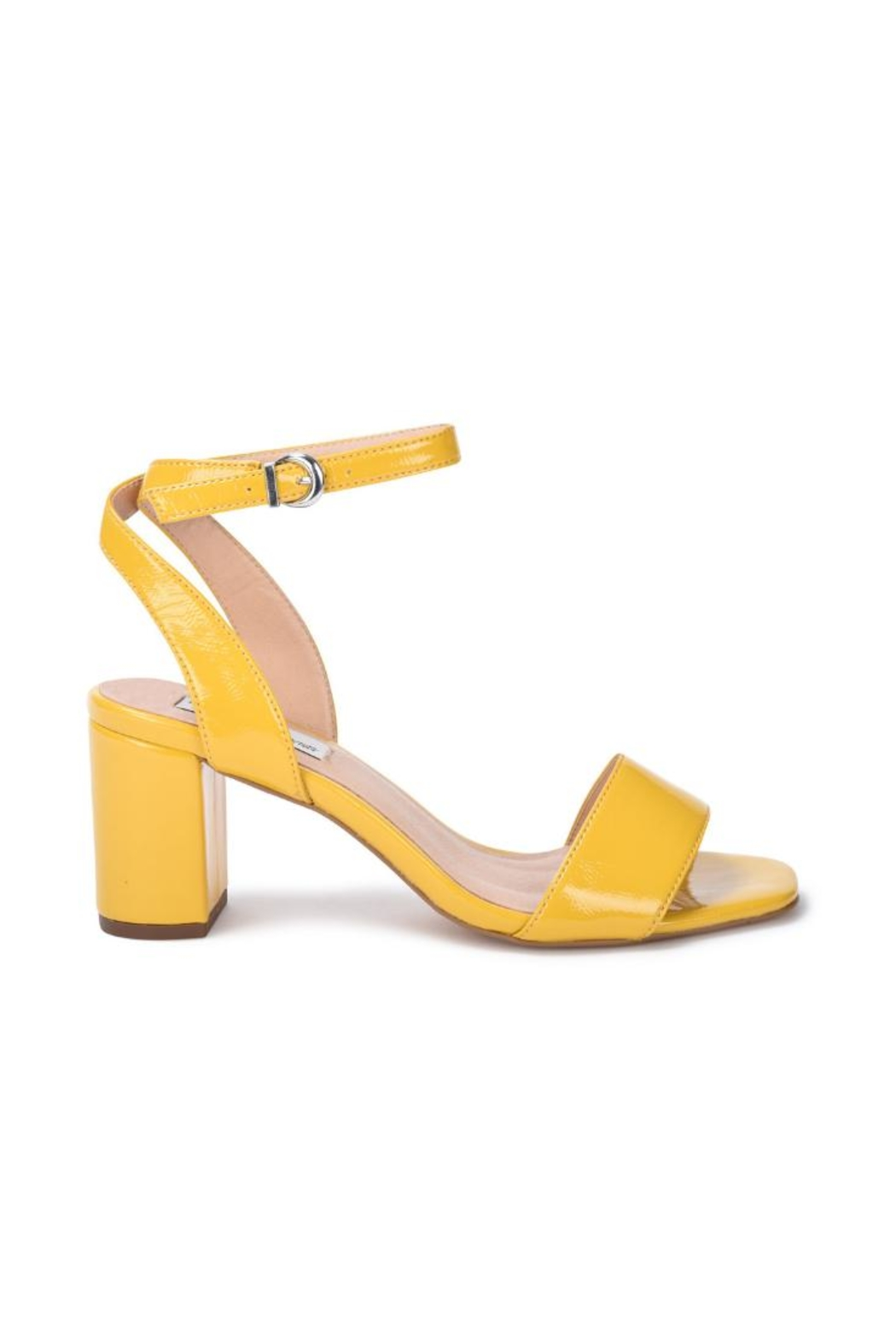 Vintage Havana Yellow Patent Sandal - Front Full Image