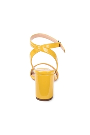Vintage Havana Yellow Patent Sandal - Side cropped